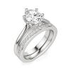 Кольцо солитер с овальным бриллиантом из белого золота, Изображение 6