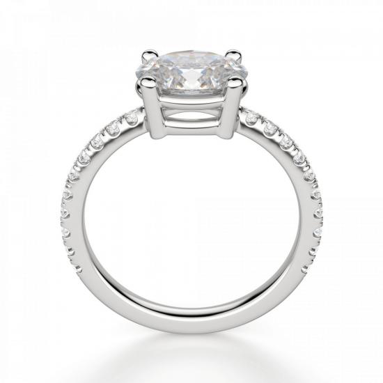 Помолвочное кольцо с бриллиантом овал,  Больше Изображение 2