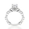 Помолвочное кольцо с бриллиантом овал с боковым декором, Изображение 2