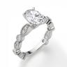 Помолвочное кольцо с бриллиантом овал с боковым декором, Изображение 3