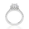 Помолвочное кольцо с бриллиантом овал с паве, Изображение 2