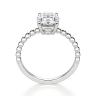 Помолвочное кольцо с бриллиантом овал на шинке из шариков, Изображение 2