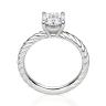 Помолвочное кольцо с бриллиантом овал из белого золота, Изображение 2