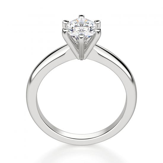 Помолвочное кольцо с бриллиантом овал в 6 крапанах,  Больше Изображение 2