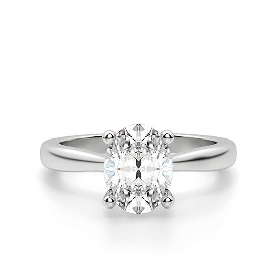 Помолвочное кольцо с бриллиантом овальной огранки, Больше Изображение 1