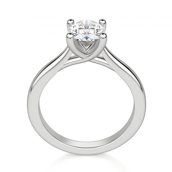 Помолвочное кольцо с бриллиантом овальной огранки,  Больше Изображение 2