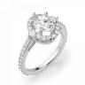 Помолвочное кольцо с бриллиантом овальной формы, Изображение 3