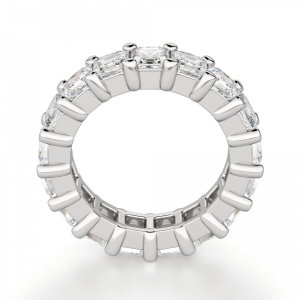 Кольцо дорожка с бриллиантами ашер 6,63 кт - Фото 1