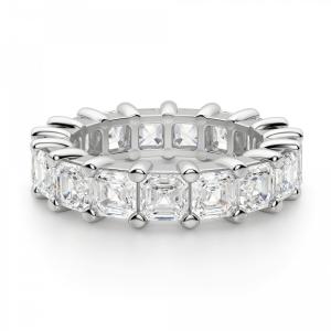 Кольцо дорожка с бриллиантами ашер 6,63 кт - Фото 2