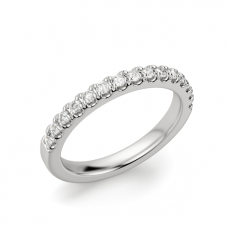 Кольцо дорожка с бриллиантами на половину кольца