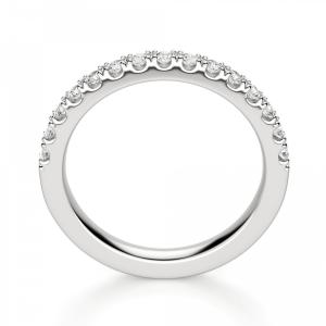Кольцо дорожка с 15 бриллиантами на половину кольца