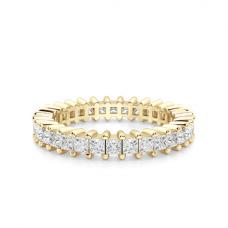 Кольцо дорожка с принцессами 2 кт из золота