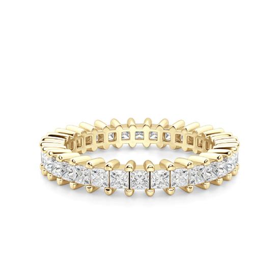 Кольцо дорожка с принцессами 2 кт из золота, Больше Изображение 1