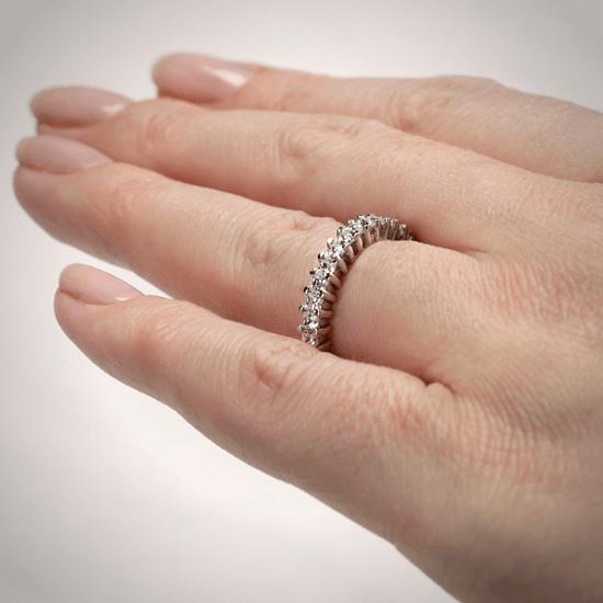 Кольцо дорожка с принцессами 2 кт из золота,  Больше Изображение 4