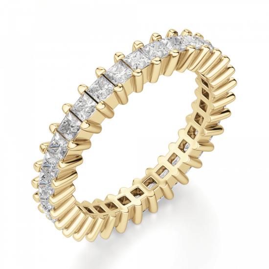 Кольцо дорожка с принцессами 2 кт из золота,  Больше Изображение 2