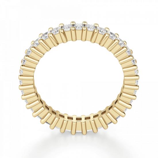 Кольцо дорожка с принцессами 2 кт из золота,  Больше Изображение 3