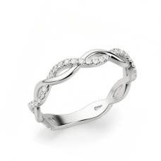 Кольцо переплетеная дорожка с бриллиантами
