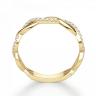 Кольцо дорожка с переплетением с бриллиантами, Изображение 2