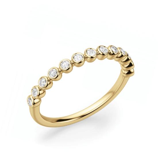 Кольцо дорожка с 13 отдельными бриллиантами, Больше Изображение 1