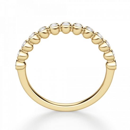 Кольцо дорожка с 13 отдельными бриллиантами,  Больше Изображение 2