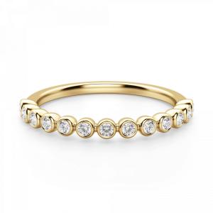 Кольцо дорожка с 13 отдельными бриллиантами