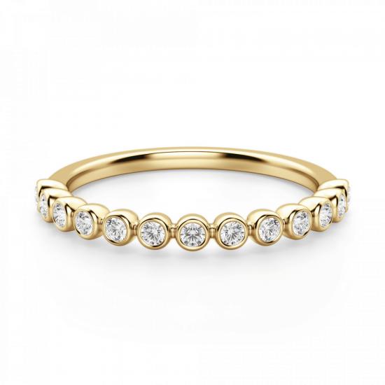 Кольцо дорожка с 13 отдельными бриллиантами,  Больше Изображение 3