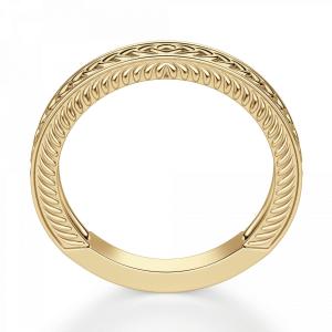 Кольцо из золота 750 пробы с узором