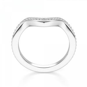 Кольцо дорожка V с бриллиантами