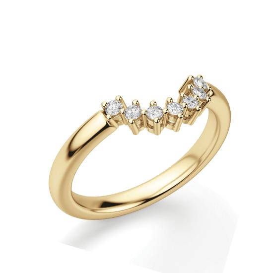 Приставное кольцо с бриллиантами из золота, Больше Изображение 1