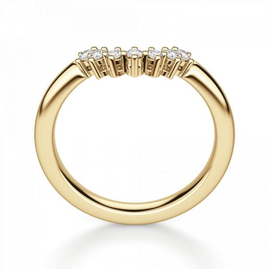Приставное кольцо с бриллиантами из золота,  Больше Изображение 2