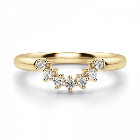 Приставное кольцо с бриллиантами из золота,  Больше Изображение 3