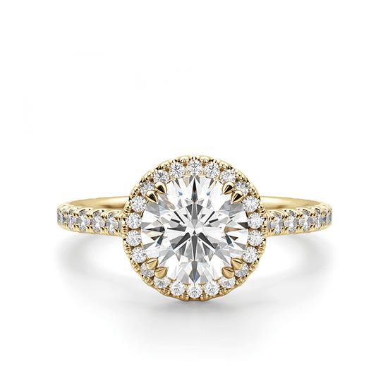 Кольцо малинка с бриллиантом в ореоле, Больше Изображение 1