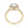 Кольцо малинка с бриллиантом в ореоле, Изображение 2