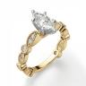 Кольцо с бриллиантом маркиз ажурное, Изображение 3