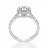 Кольцо с овальным бриллиантом в стиле малинка, Изображение 2
