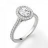 Кольцо с овальным бриллиантом в стиле малинка, Изображение 3