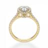 Кольцо с овальным бриллиантом в паве, Изображение 2