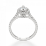 Кольцо с бриллиантом груша в бриллиантовом ореоле, Изображение 2