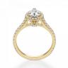 Кольцо с бриллиантом груша с паве, Изображение 2