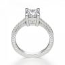 Помолвочное кольцо из золота с бриллиантом принцесса, Изображение 2