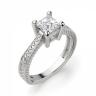 Помолвочное кольцо из золота с бриллиантом принцесса, Изображение 3