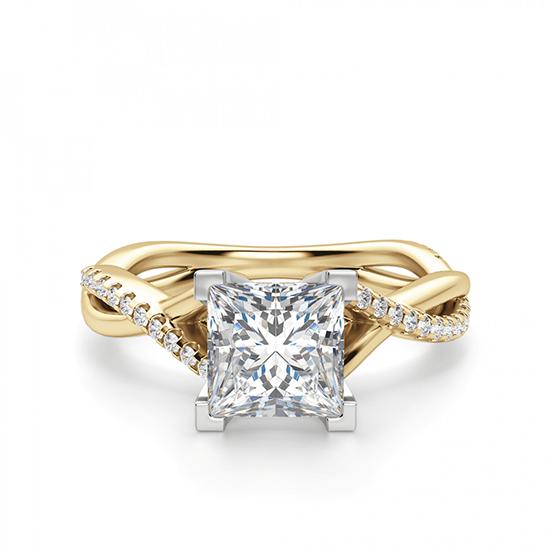 Кольцо бриллиантом Принцессой, Больше Изображение 1