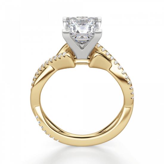 Кольцо бриллиантом Принцессой,  Больше Изображение 2