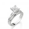 Помолвочное кольцо с бриллиантом Принцесса, Изображение 3
