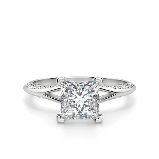 Помолвочное кольцо с бриллиантом Принцесса, Больше Изображение 1
