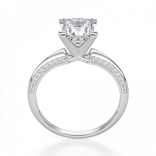 Помолвочное кольцо с бриллиантом Принцесса,  Больше Изображение 2