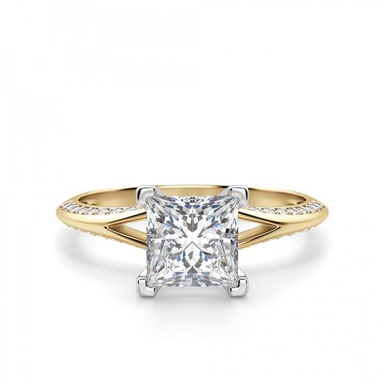 Помолвочное кольцо принцесса с раздвоением, Больше Изображение 1