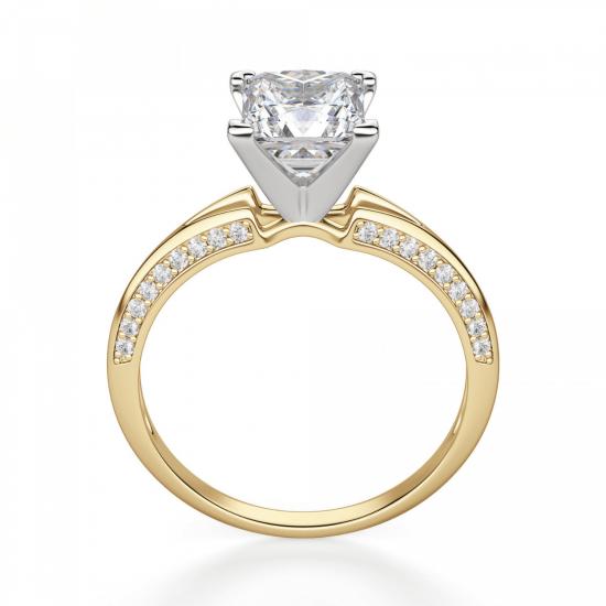 Помолвочное кольцо принцесса с раздвоением,  Больше Изображение 2