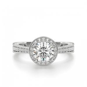 Помолвочное кольцо с ореолом из золота