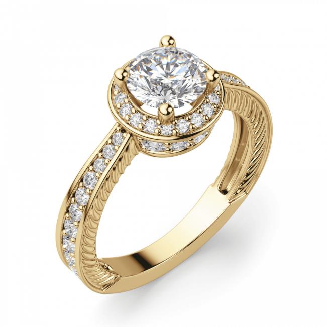 Помолвочное кольцо с малинка